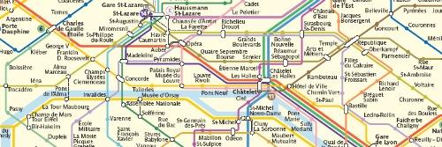 Plano del metro de Paris